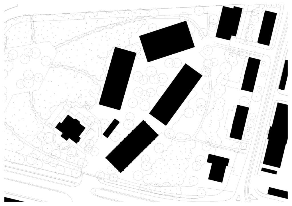 Situationsplan Citygate © Luca Selva Architekten