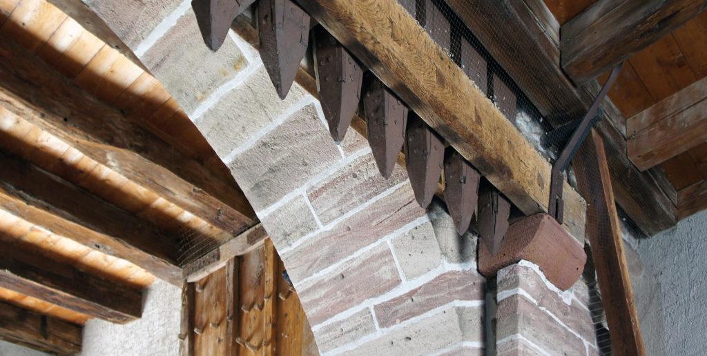 St.Johanns-Tor, Fallbalken Feldseite © Architektur Basel