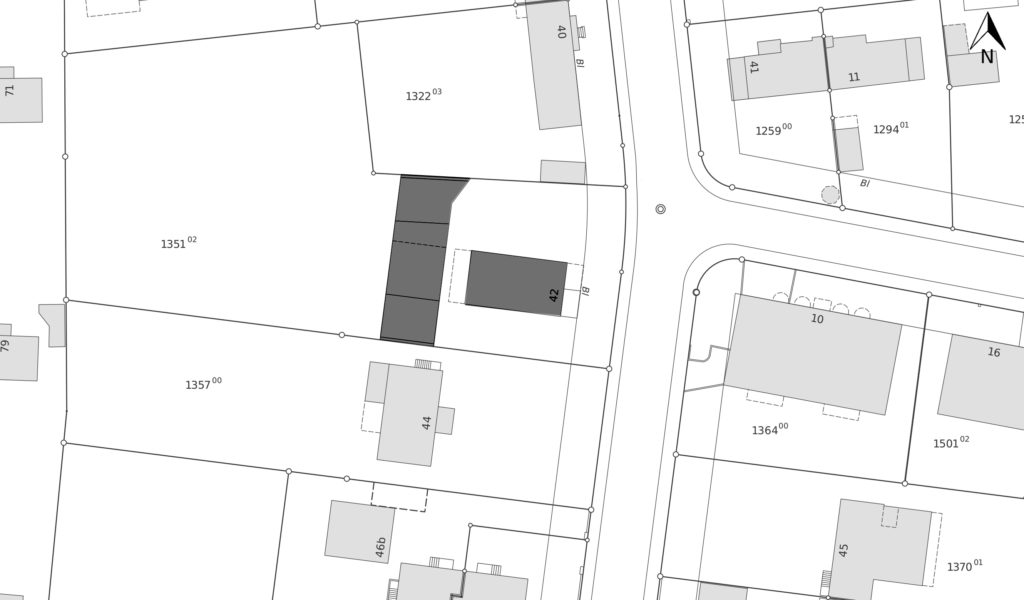Situationsplan Morysrasse 42 © Geodaten Basel-Stadt