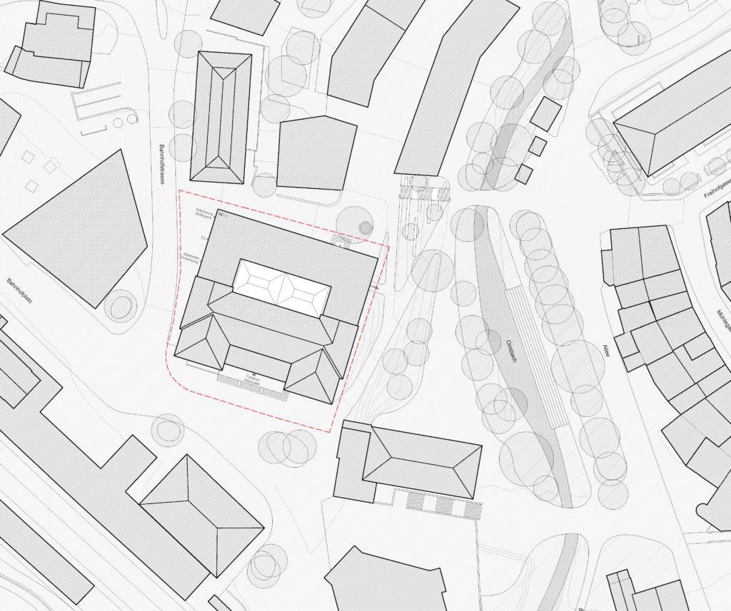 Situation / «THEMIS» (1) © Herzog Architekten, Zürich