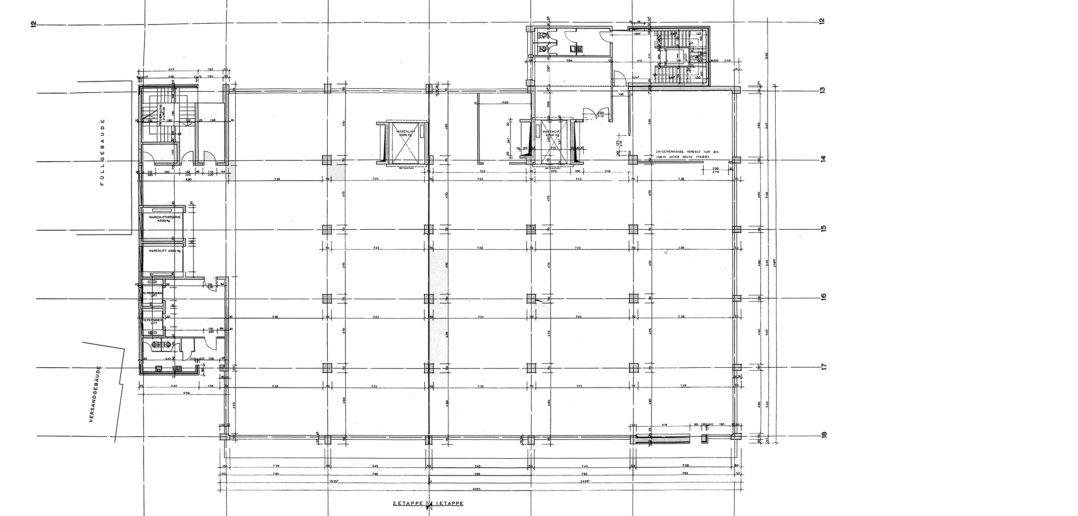 Fabrikations- und Lagergebäude Thomi + Franck Basel, 6. Obergeschoss © Burckhardt+Partner