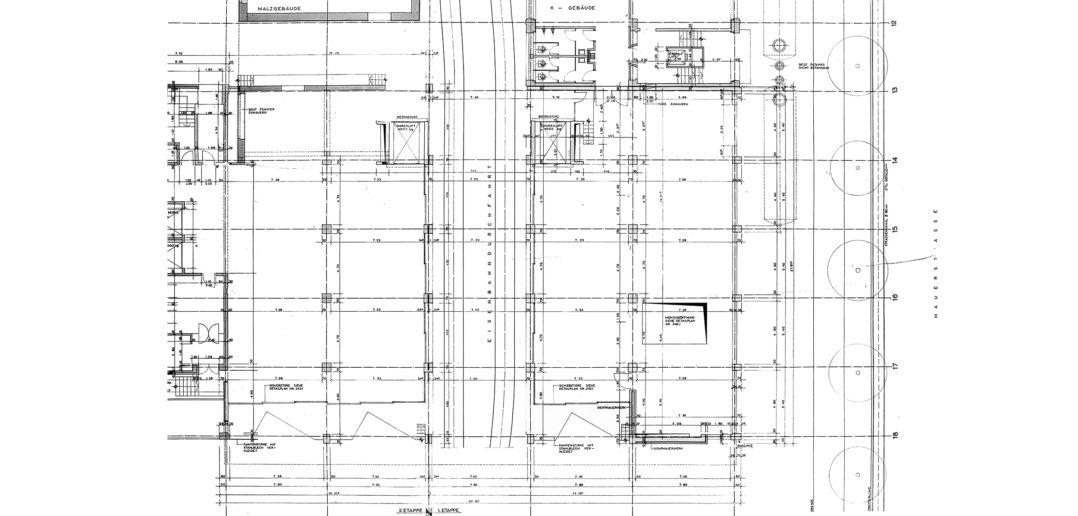 Fabrikations- und Lagergebäude Thomi + Franck Basel, Erdgeschoss © Burckhardt+Partner