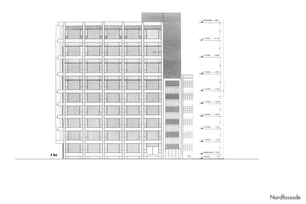 Fabrikations- und Lagergebäude Thomi + Franck Basel, Nordfassade © Burckhardt+Partner