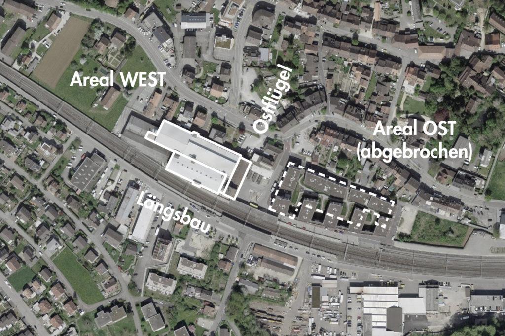 Tonwerk, Lausen (bearbeitet), Grundlagen Luftbild © Bundesamt für Landestopografie swisstopo