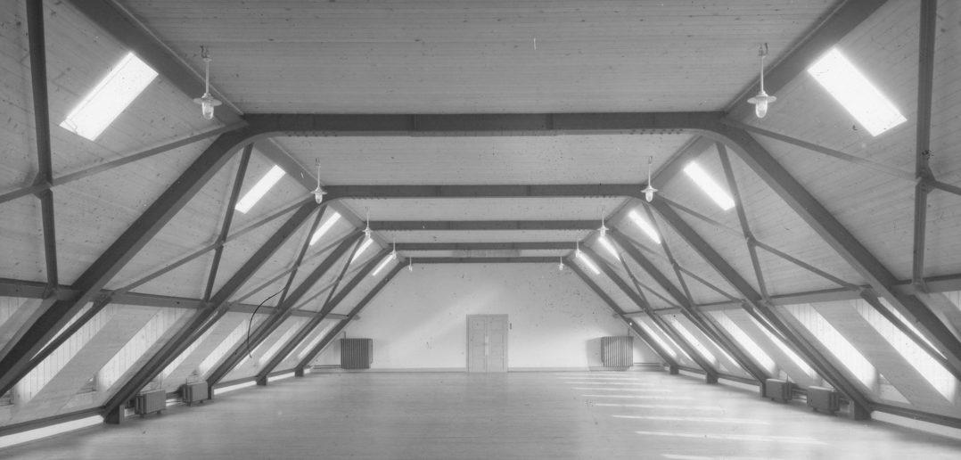 Turnsaal im Dach des Genossenschaftshauses © Archiv Siedlungsgenossenschaft Freidorf