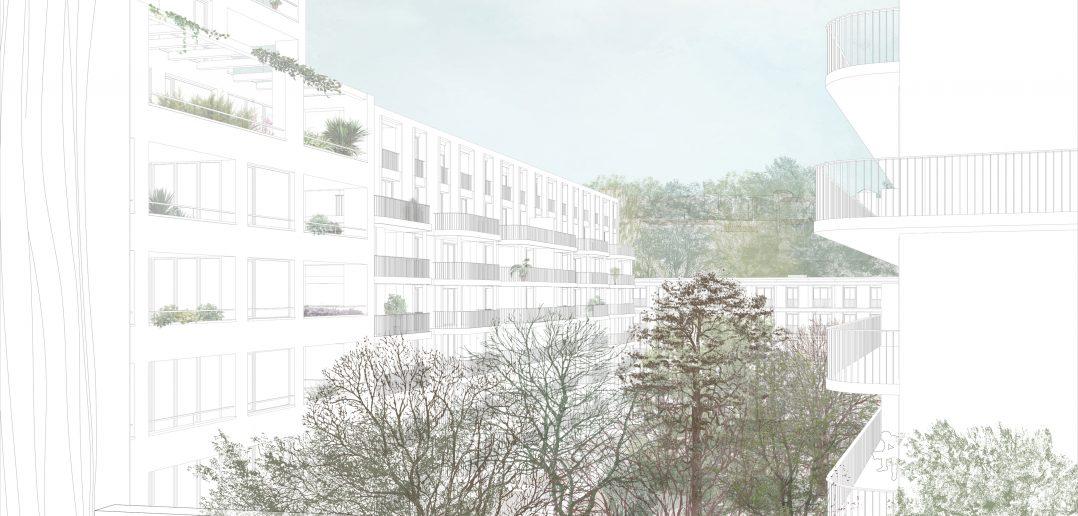 VanBaerle-Areal Münchenstein © jessenvollenweider architektur, HHF Architekten und GWJ Architektur