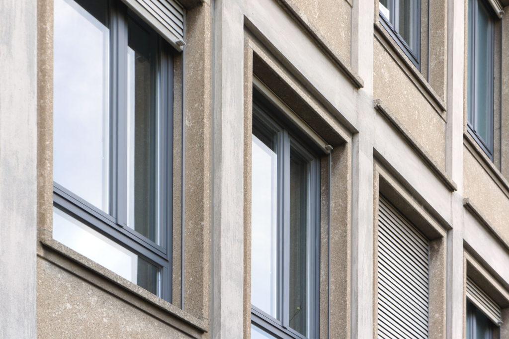 Hellbraune Kunststeinverkleidungen Nr.31 © Architektur Basel