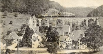 Viadukt in Rümlingen um 1910, Archiv Heinz Spinnler