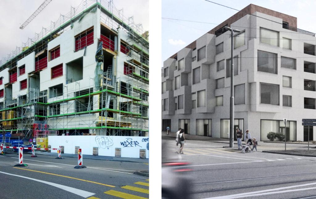 Neubau Wohnungen Meret Oppenheim-Strasse von Luca Selva © Architektur Basel / Luca Selva Architekten
