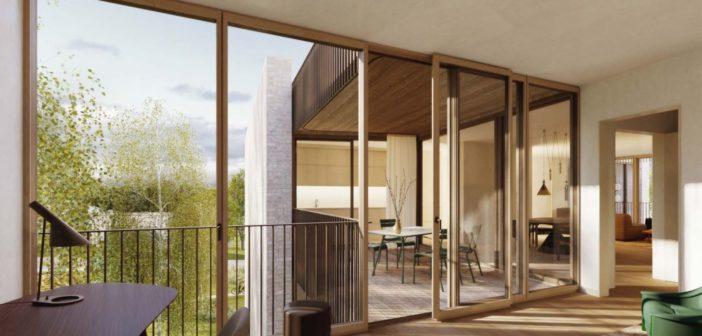Visualisierung Innenraum: Wohnen Studio Basel Bruderholz © Morger Partner
