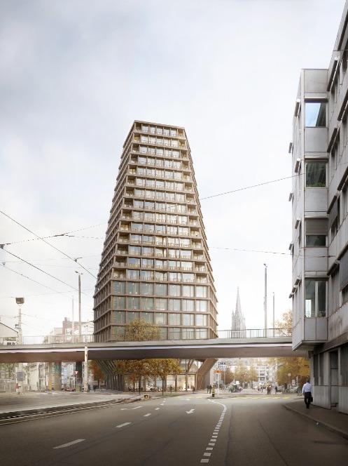Visualisierung Binningerstrasse © Miller & Maranta Architekten