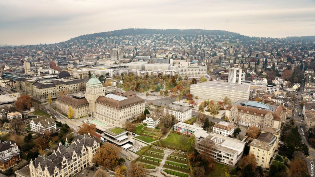 Vogelperspektive Hochschulgebiet, Visualisierung © HGZZ