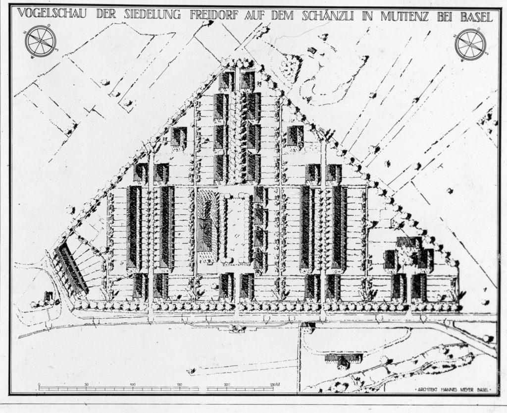 Der definitive Bebauungsplan des Freidorfs © Staatsarchiv Baselland