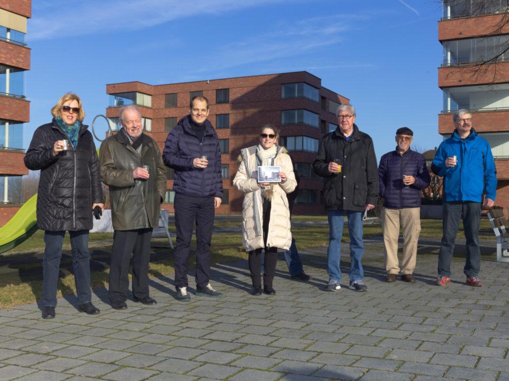 Sanierte Wohngenossenschaft Meiriacker – Übergabe des Architekturpreises Binningen 2018 an die Preisträger, zVg
