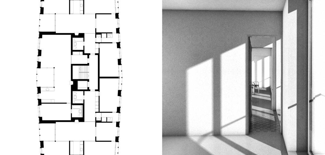 Wettbewerb | Wohnhäuser Zurlaubenhof | Zug | 3. Preis | 2014 © Scheibler & Villard