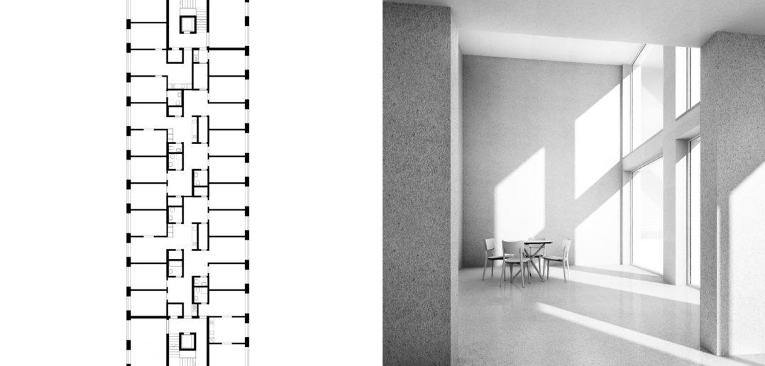 Wettbewerb | Wohnhaus Zollatrasse | Zürich | 2015 © Scheibler & Villard