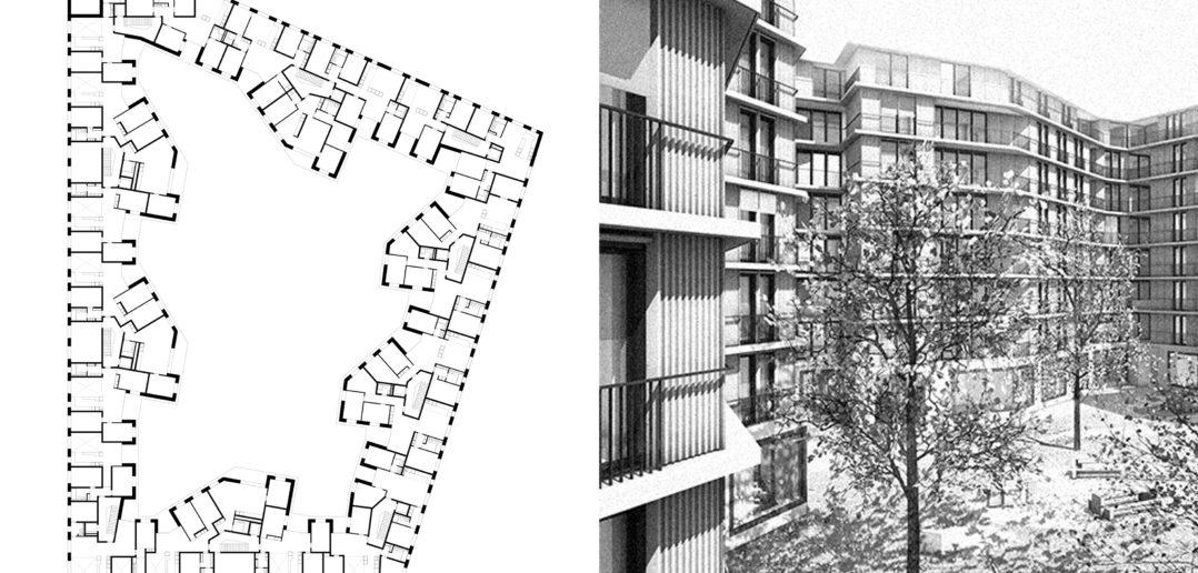 Wettbewerb | Wohnungsbau Hardturm | Zürich | 3. Preis | 5. Rang | 2012 © Scheibler & Villard