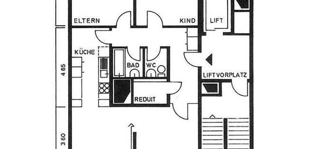 Grundrissplan Wohnung Liebrüti