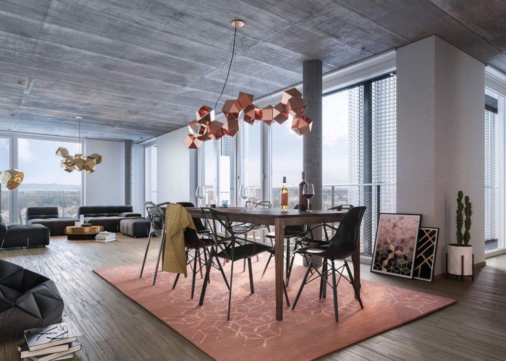 Visualisierung Wohnung im Meret Oppenheim Hochhaus © SBB Immobilien