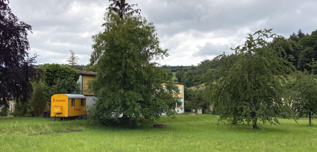 Die Fassade des Pavillons hat schon bessere Zeiten gesehen © Simon Heiniger / Architektur Basel