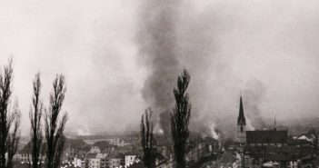 Bombenaubwürfe in Basel 1945 © Privatarchiv