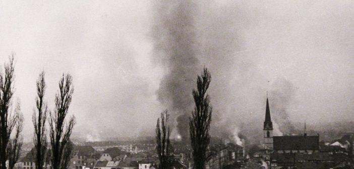 Bombenaubwürfe in Basel 1945 © Privatarchiv