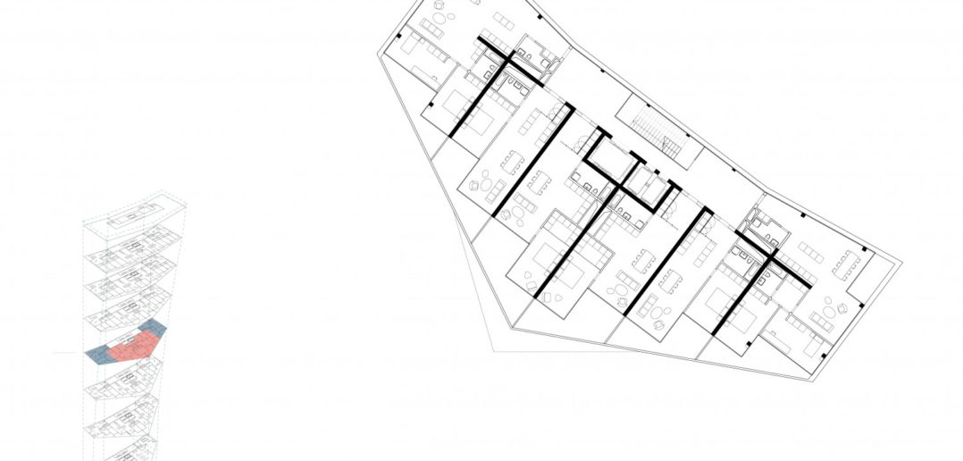 Grundriss Spenglerpark Hochhaus © Harry Gugger Studio