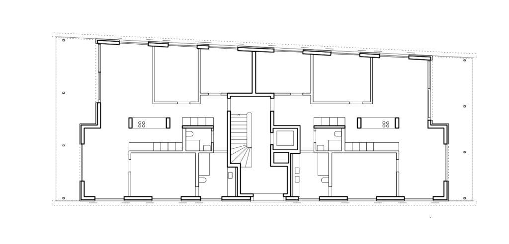 Grundriss Wohnhaus Gatternweg in Riehen © Felippi Wyssen Architekten