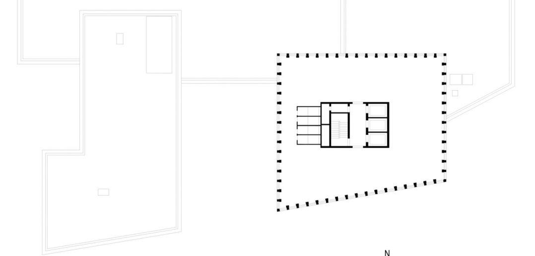 Grundriss 21. OG Grosspeter Tower © Burckhardt+Partner AG