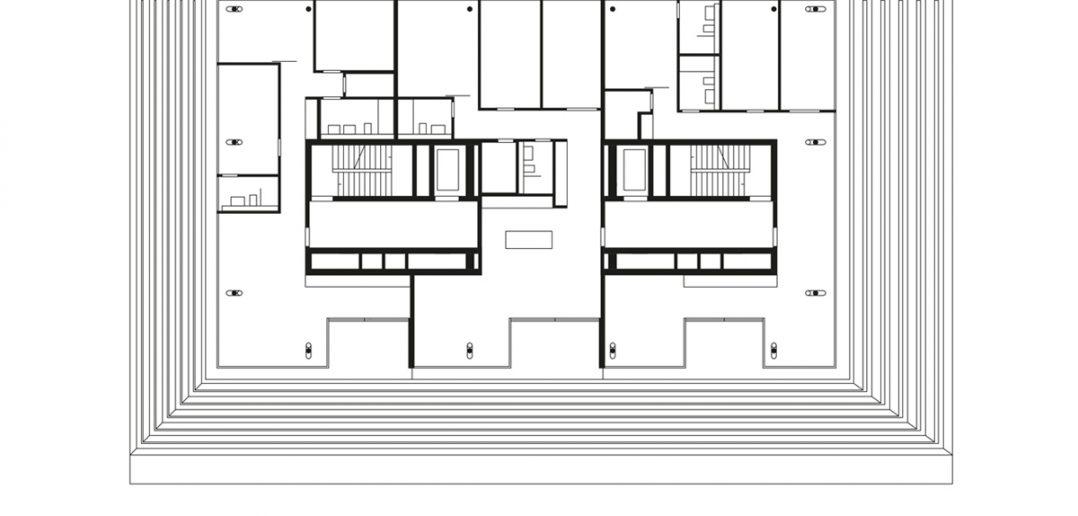 Grundriss 12. Obergeschoss © Morger Partner Architekten AG