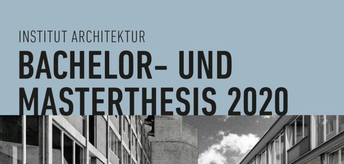 Ausstellung Bachelor- und Masterthesisarbeiten, 24.09.20 bis 02.10.20, Mo-Fr, 08-17 Uhr