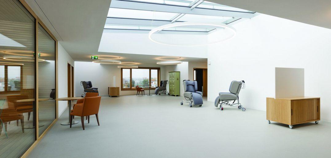 Neubau Pflegeheim Marthastift, Pflegeoase im 3.Obergeschoss, © Julian Salinas