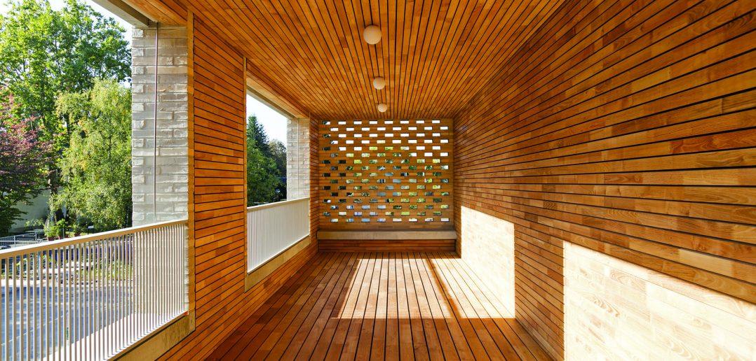 Neubau Pflegeheim Marthastift, Balkon von Wohngruppe, © Julian Salinas