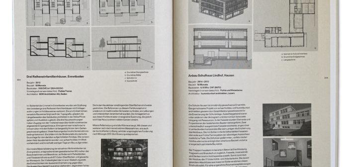 Kurzbeschriebe werden durch Fotografien und Pläne ergänzt. © Architektur Basel