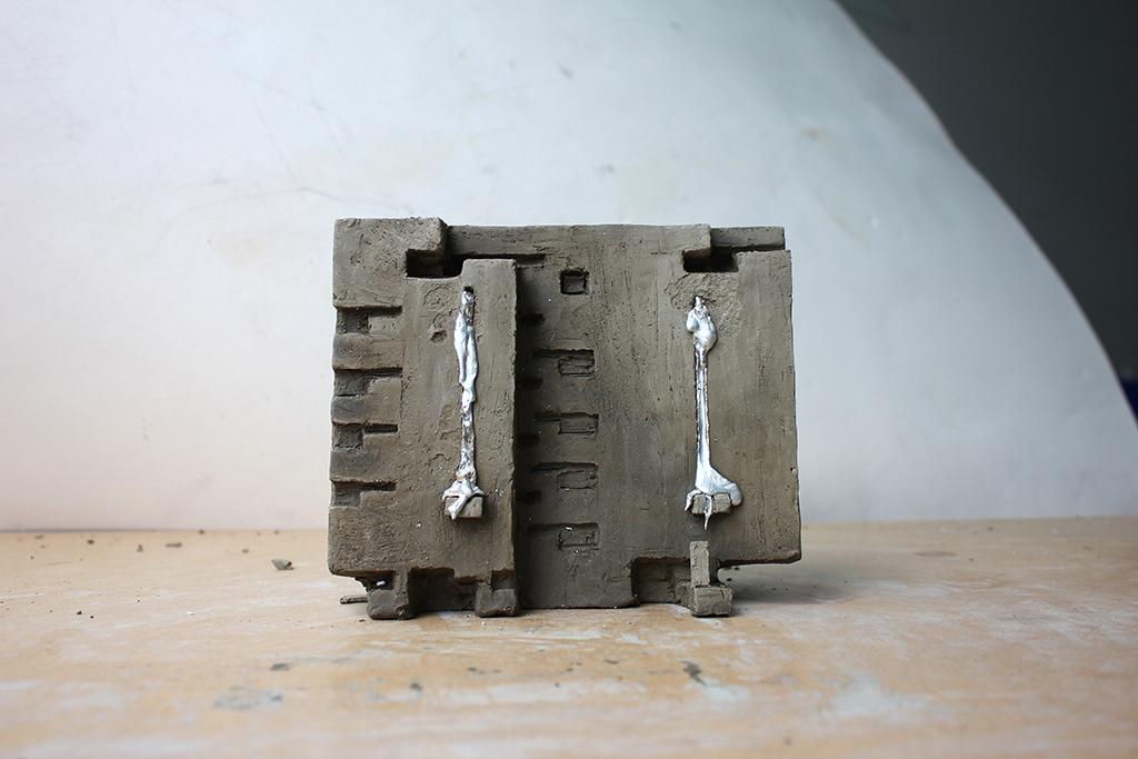 Das Wettbewerbsmodell für «Magma» © Saskia Edens