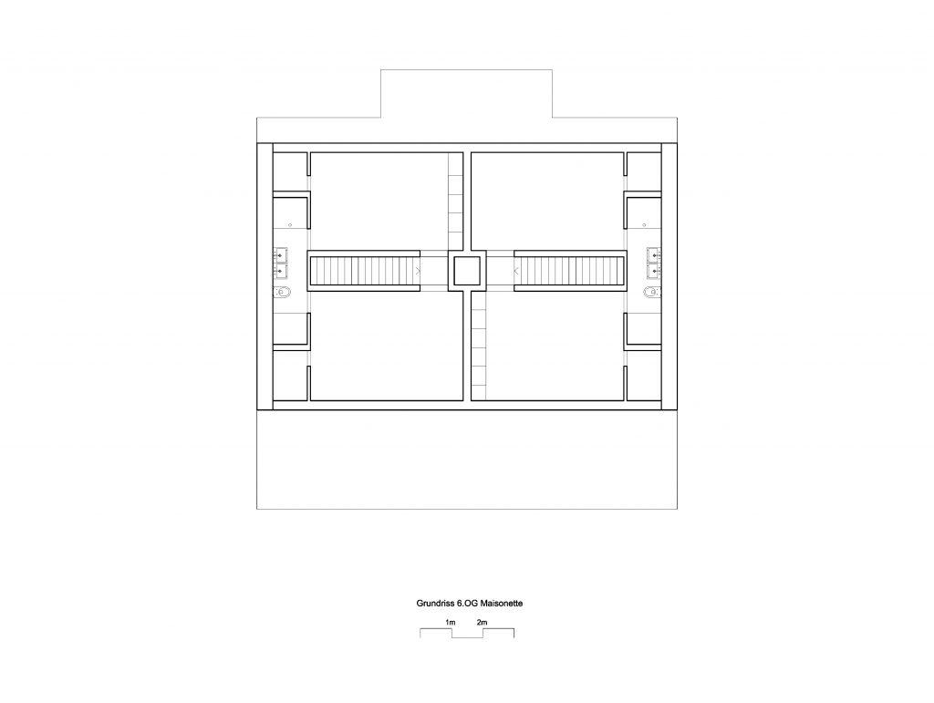 Grundriss | Aufstockung Drahtzugstrasse © Lukas Raeber