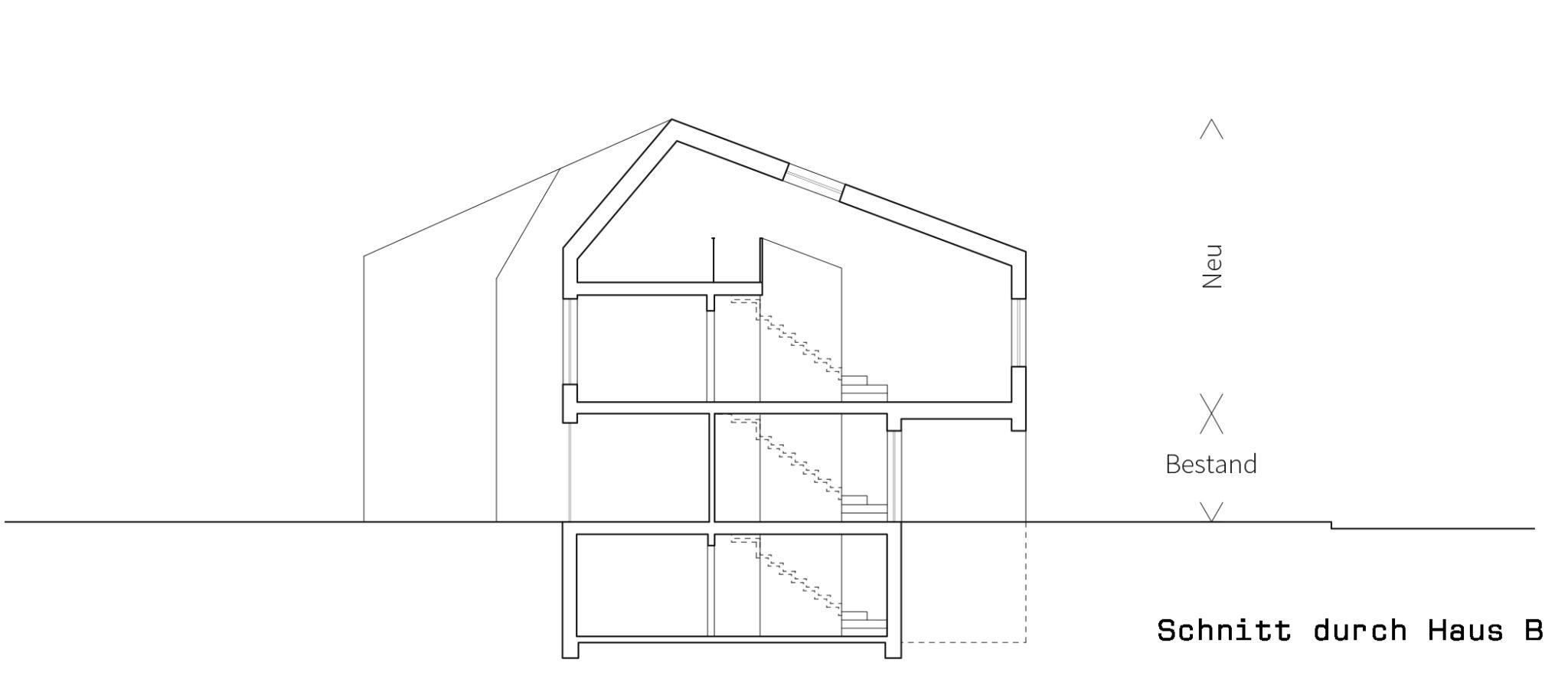 Bestand Aufstockung Anbau Drei Wohnhauser In