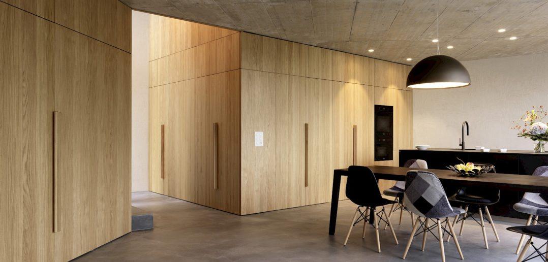 Klare Materialisierung, EFH Höhenweg, Binningen © Bruno Helbling, Zürich