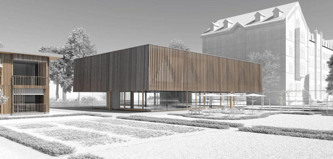 So soll das neue Seminarrestaurant der Basler Mission aussehen © Burckhardt+Partner Architekten