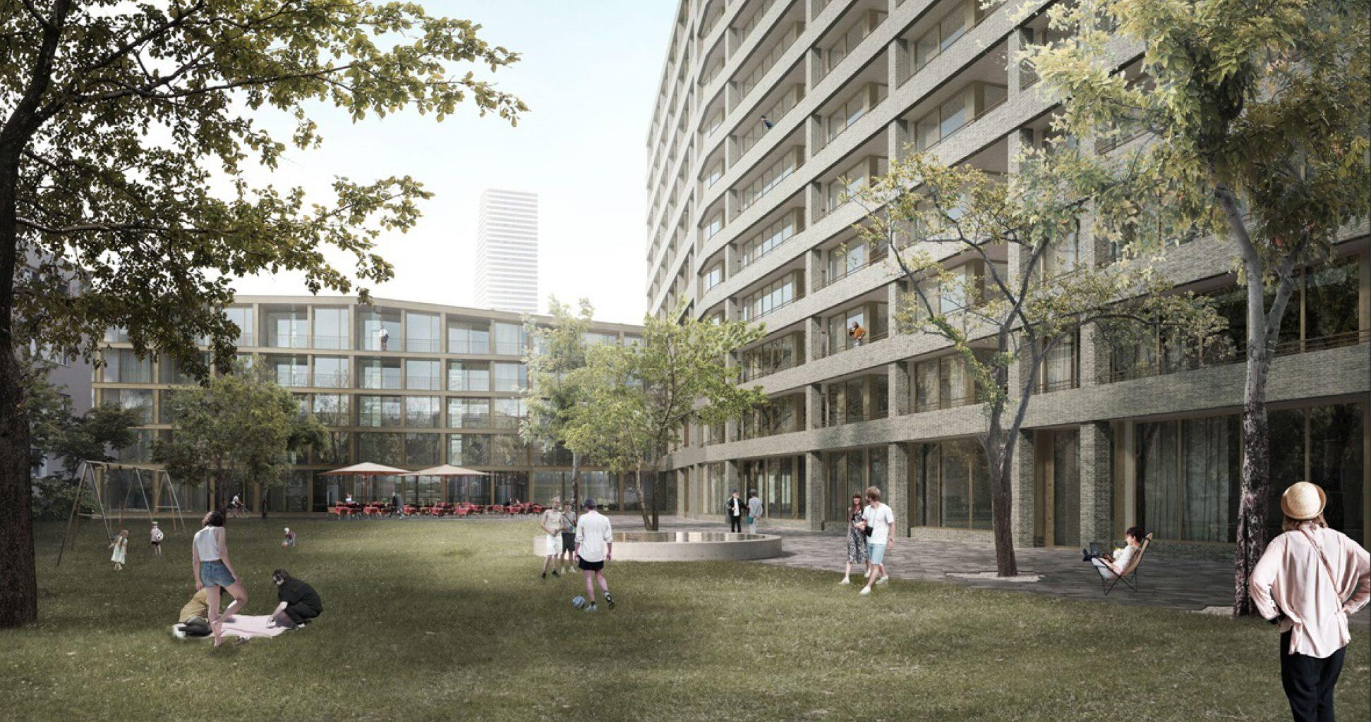 buchner br ndler architekten planen 170 neue wohnungen samt hochhaus am eisenbahnweg. Black Bedroom Furniture Sets. Home Design Ideas
