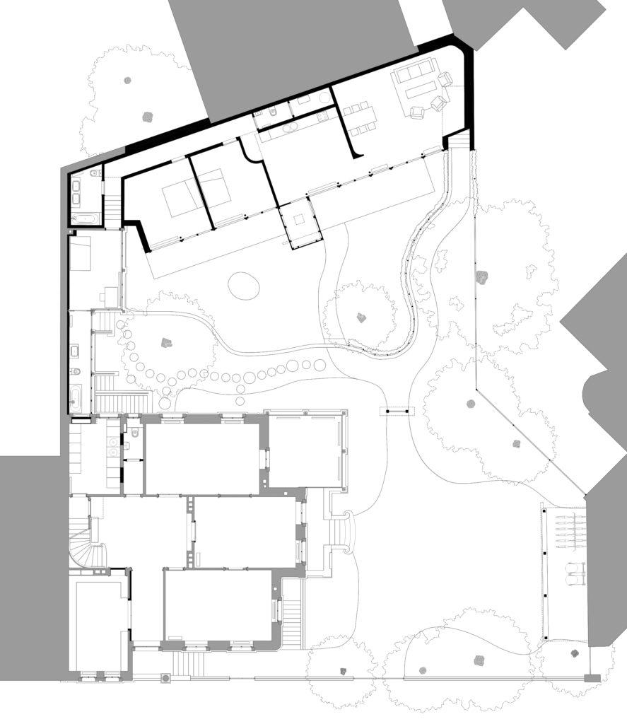 Grundriss Erdgeschoss Villa Hammer, 2018 © Sauter von Moos