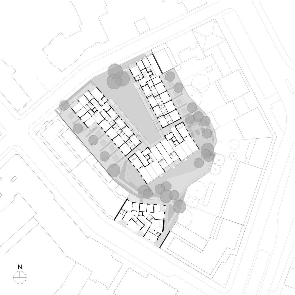 Grundriss Wohnüberbauung Maiengasse